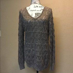 Jeans by buffalo bronze metallic knit sweater
